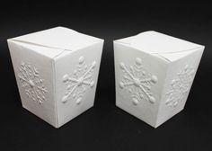 Snowflake Embossed Boxes