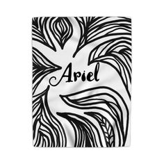 Personalized kid blanket in black and white, Personalized todller blanket in black and white, minky blanket