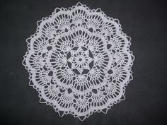 Ravelry: Project Gallery for White Fan Doily pattern by Beth Mueller