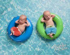 Twin Surf Shorts/ Newborn Surfer Prop/ Newborn by WillowsGarden #twinphotoprop