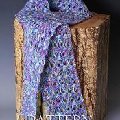 Easy Broomstick Lace Scarf  - via @Craftsy