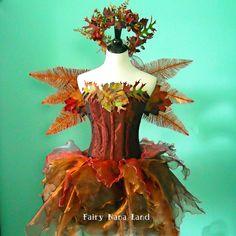 Adult fairy costume - The Copper Acorn Faerie - Corset bust 38. $350.00, via Etsy.