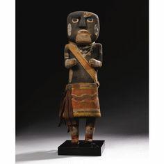 A Large Hopi Polychrome Wood Kachina Doll, depicting a Snake Priest - Sotheby's
