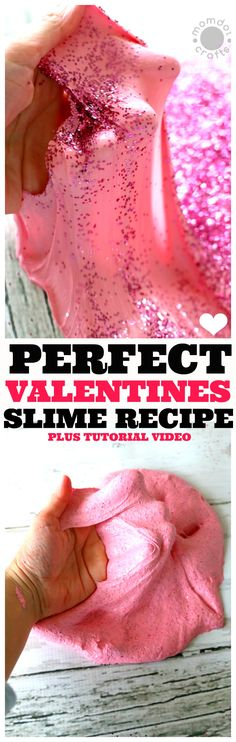Valentines Day Slime Recipe and Tutorial, including video to help you get it right every time
