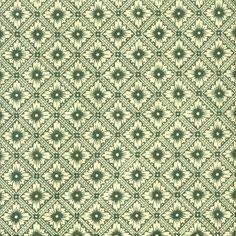 "Green Star Flower Print Italian Paper ~ Carta Varese Italy Item #: IPV803G  1 sheet measuring 19.5"" x 13.5"" of star flower print paper in green."