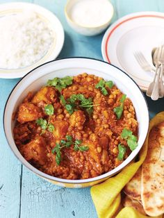 Roasted veggie curry | Jamie Oliver recipes Frozen Spinach, Frozen Peas, Naan, Chutney, Madras Curry, Curry Spices, Veg Curry, Curry Recipes, Vegetarian Recipes