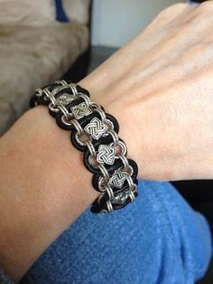 Celtic Knotwork Woven Chain Bracelet by LadyBassMusic on Etsy