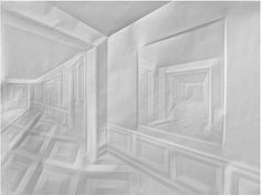 Simon Schubert makes art by folding and unfolding paper