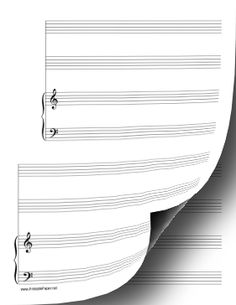 This Manuscript Paper Includes Three Systems Of Four Musical Parts