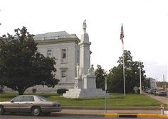 Confederate monument outside the Lefore County Courthouse, Greenwood, Mississippi site photos