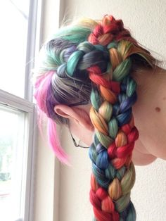 Colorful Rainbow Braids