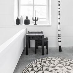 Madison Park Calvin Cotton Bath Rug Bath Rugs Gray Grey - Black and white geometric bath rug for bathroom decorating ideas