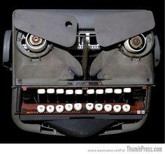 """""""Angry typewriter"""" -- Um, yep... it is!"""