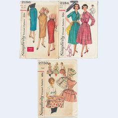 Vintage 3 sewing patterns sz 12 dress pencil by fancynancyvintage 9
