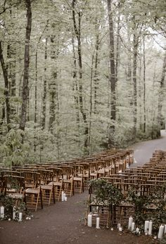 Whimsically Wooded RT Lodge Wedding Stunning Woodland Wedding in Great Smoky Mountain National Park. The post Whimsically Wooded RT Lodge Wedding & Illustration/Photography/Art appeared first on Forest party theme . Rustic Wedding Venues, Lodge Wedding, Wedding Ceremony Decorations, Chic Wedding, Wedding Ceremonies, Woods Wedding Ceremony, Wedding Bride, Wedding Reception, Wedding Locations