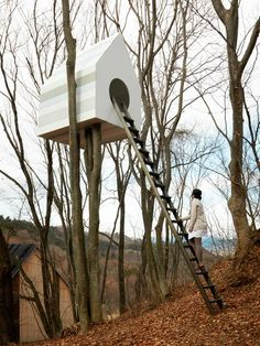 If you're an avid bird watcher you will surely love this beautiful project. A brilliant nature-architecture concept was implemented at the Momfuku Ando Centre, in Japan. 78 small bird nesting boxes, in their classical appearance (as we all remember them from childhood), are put together to form a joyful mosaic facade! And that's not all …