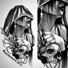 #siege #revivalartcollective #darkart #gothic #skull #tattoo #temptress #reaper #traditionaltattoo #neotraditionaltattoo #ipad #digitalart #tattoodesign #deadgirl #phoenix #azartist