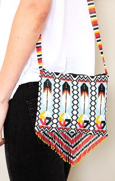 Beaded Bag With Strap