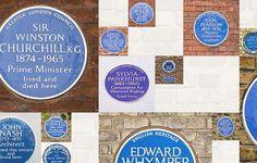 Find a blue plaque