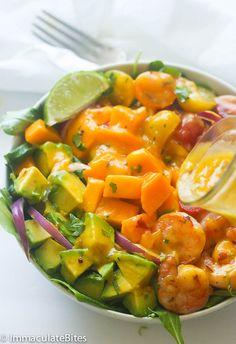 Mango Avocado Shrimp salad