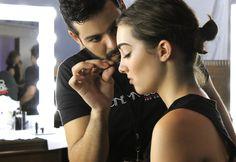 CS Pro Team Artist, Luis, Applying Makeup on a Marcelo Quadros Model