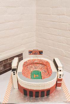 Tennessee Volunteers grooms cake, UT grooms cake, Neyland Stadium grooms cake