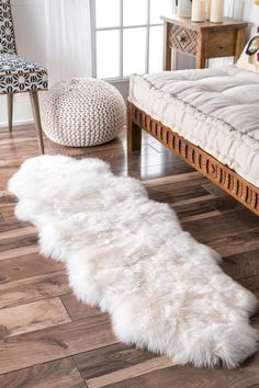 Shop nuLOOM Alexa Double Natural Soft Sheepskin Wool Shag Rug x - x - Overstock - 3498488 Natural Area Rugs, Natural Rug, Carpet Runner, Rug Runner, Sheepskin Throw, Rugs Usa, Buy Rugs, Contemporary Rugs, My New Room