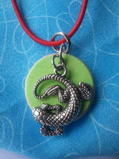 Gecko childs necklace teen necklace necklace by NewBeginningOils