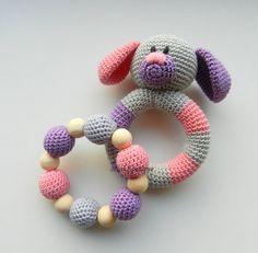 Gehäkelte Baby Spielzeug SET 2 Zahnen Baby von MioLBoutique auf Etsy
