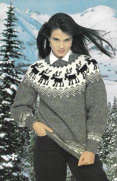 Patons 642 Norspun Knit Sweaters for Adults Yarn For Sale, Fair Isle Pattern, Knit Sweaters, Yarns, Art Work, Turtle Neck, Patterns, Knitting, Fashion
