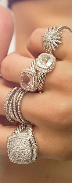 David Yurman rings, all of them