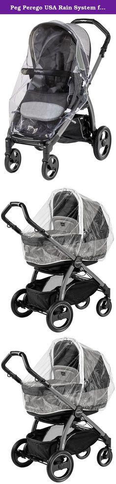 Peg Perego USA Rain System for Book Pop Up Stroller. Strolling in the rain. Sometimes Mother Nature sneaks up on you. A rain cover is the perfect solution to keeping your baby dry, warm and comfortable in all inclement weather, even windy days.