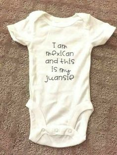 Spanish baby clothes, baby names girl spanish, funny onesies for babies, knitted baby Baby Girl Names Spanish, Spanish Baby Clothes, Funny Baby Clothes, Funny Babies, Funny Baby Girl Onesies, Babies Clothes, Babies Stuff, Cute Baby Boy Names, Baby Girl Onsies