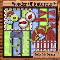 Wonder of Nature  Ladybug Digital Scrapbooking by LatteDahDesigns, $1.75