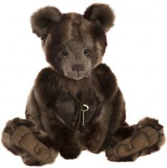 From Charlie Bears 2018 Plush Collection, greet the handsome Shane, a lovable design by Isabelle Lee with Charlotte Morris. Shane is / Bear Paws, Bear Toy, Tedy Bear, Charlie Bears, Build A Bear, Baby Shower Cards, Big Bear, Cute Dolls, Brown Bear