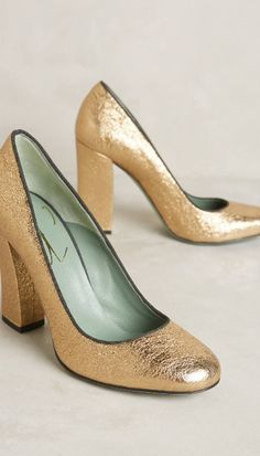04c6e8333cf1a8 Paola d Arcano Selby Pumps  anthroregistry Gold Heels