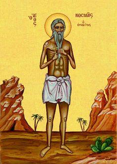Saint Kosmas the Hermit and Confessor Byzantine Icons, Orthodox Christianity, Religious Icons, Son Of God, Ikon, Jesus Christ, Georgia, Saints, Artwork
