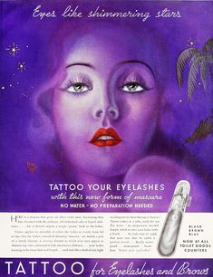 1930s ad for mascara. (♥)