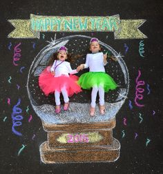 New Years 2015 - Chalk Art İdeas in 2019 Chalkboard Pictures, Chalk Pictures, Chalk Photography, Creative Photography, Chalk Design, Sidewalk Chalk Art, Chalk Drawings, Tag Art, Summer Fun