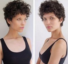 yahoolifestyle: By Juliana Faddul The capixaba model … – About Hair Dark Curly Hair, Curly Hair Cuts, Cut My Hair, Short Hair Cuts, Curly Hair Styles, Curly Pixie Hairstyles, Short Curly Haircuts, Chic Short Hair, Hair Pictures
