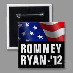 Boldfaced Patriotic Romney/Ryan Button, $2.75