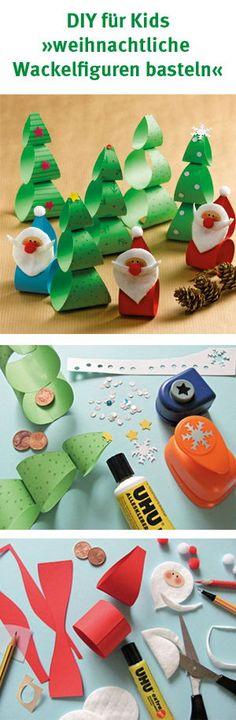 Beim Basteln dieser niedlichen Xmas Wackelfiguren werden die lieben Kleinen ganz viel Spaß haben. Und natürlich eignen sich die Figuren nicht nur zum Spielen, sondern auch als niedliche Weihnachtsdeko. Die Bastelidee kann natürlich je nach Jahreszeit auch abgeändert werden in Osterhasen oder andere lustige Figuren. #diy #basteln #bastelspaß #kinder #kids #weihnachten