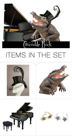 """Crocodile Rock"" by kathleensmith-i ❤ liked on Polyvore featuring art"