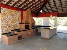 10 Traditional outdoor kitchens you cannot resist - Modern Survival Living Outdoor Cooking Area, Outdoor Kitchen Design, Terrazzo, Traditional House, Home Deco, My House, Architecture Design, Outdoor Living, Sweet Home