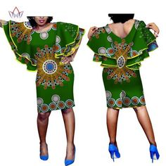 Beautiful African Women's Wax Dashiki Print African Dresses for Women Plus Size Elegant Long Butterfly Sleeve Casual Dress African Fashion Designers, Latest African Fashion Dresses, African Dresses For Women, African Print Dresses, African Print Fashion, African Attire, African Wear, African Style, Beautiful African Women