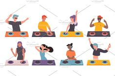 Night Club, Musicals, Dj, Family Guy, Illustrations, Cartoon, Party, Movie Posters, Illustration