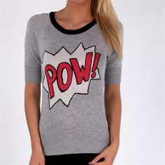 Willow & Clay Women's Contemporary Pow! Sweater