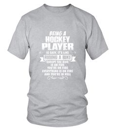 Being A Hockey Player T-Shirt (Round neck T-Shirt Unisex - Sport Grey) #ideas #nature #sports hockey training, hockey diy, hockey sur glace, dried orange slices, yule decorations, scandinavian christmas Cheap Shirts, Mom Shirts, Types Of Sleeves, Short Sleeves, Long Sleeve, Hockey Mom, Hockey Rules, Hockey Stuff, Hockey Players