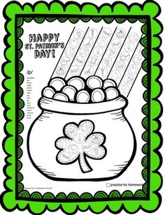 St. Patrick's Day Dot Art {No Prep!} Get tons of drill in speech therapy, and then send it home for more practice!