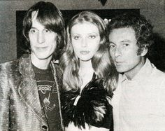 """1974 - Todd, Bebe and """"her dear"""" Ron Delsner at the Palladium, NYC. By legendary rock photographer Bob Gruen."""